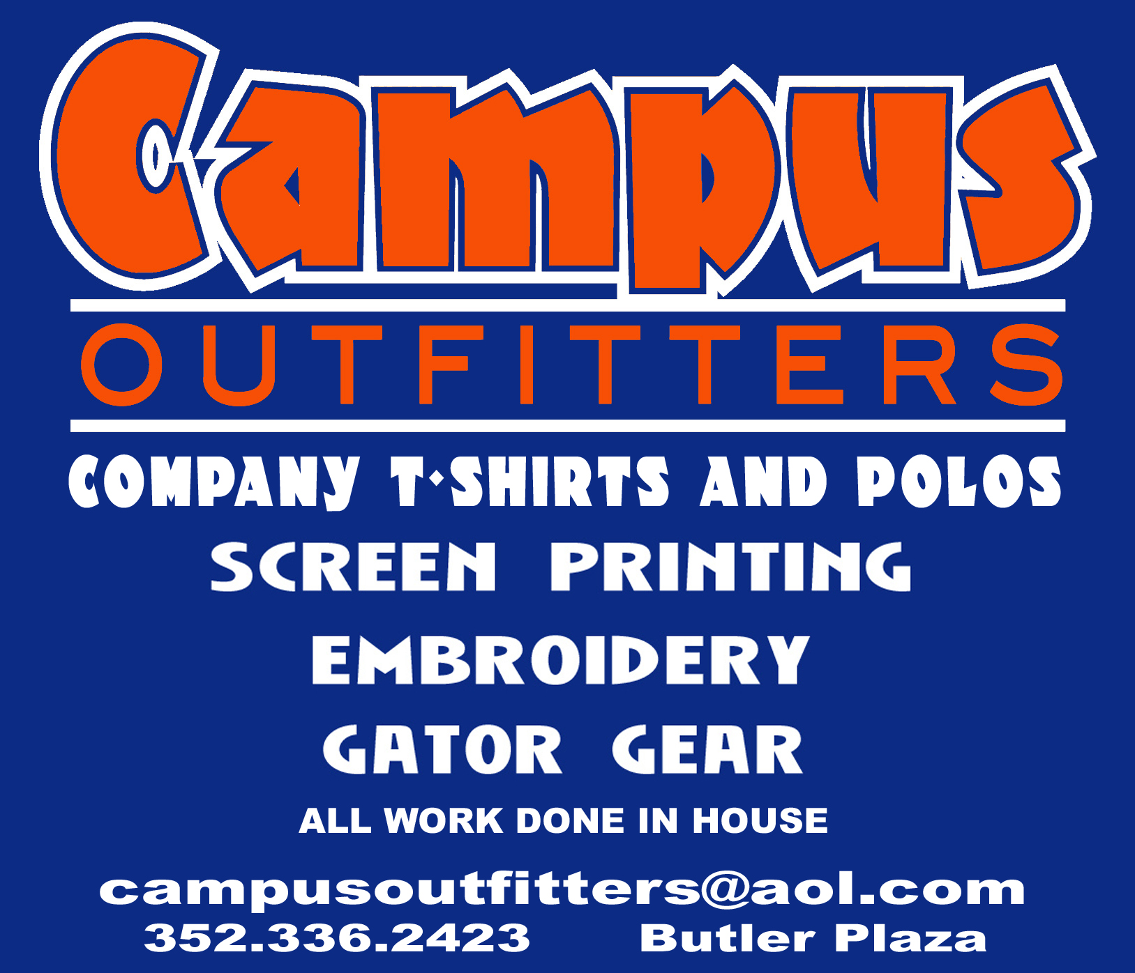 Campus outfitters custom embroidery and screen printing