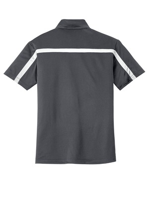 Port Authority Silk Touch Performance Colorblock Stripe Polo.